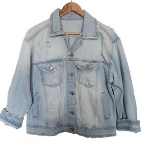 Jackets & Blazers - 2 for$25 vintage like destressed denim jean jacket